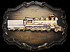 VINTAGE 1970s STEAM LOCOMOTIVE ENGINE TRAIN BELT BUCKLE