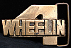 HG20126 VINTAGE 1970s ***4 WHEELIN*** 4x4 TRUCK CUT-OUT SOLID BRASS BUCKLE