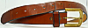 1970s VINTAGE HIPPIE **SMOOTH** BROWN LEATHER BELT - 39