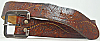 1970s VINTAGE HIPPIE **PAISLEY DESIGN** BROWN BELT - 26
