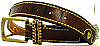 1960s VINTAGE  *HEART STUDDED* BROWN LEATHER BELT - 31