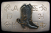 GREAT 1970s WESTERN COWBOY BOOTS AND BRANDS BELT BUCKLE