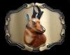 REALLY COOL 1978 VINTAGE *ANTELOPE BUCK* BELT BUCKLE