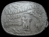 JJ01109 *NOS* 1992 HESSTON **NATIONAL FINALS RODEO** NFR HESSTON BELT BUCKLE