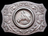 VERY COOL VINTAGE 1970s WESTERN STYLE HORSE BELT BUCKLE