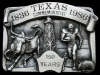 JJ01126 VINTAGE 1986 **TEXAS** 150 YEARS COMMEMORATIVE PEWTER BELT BUCKLE