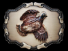 REALLY GREAT VINTAGE 1978 FLYING QUAIL BIRD BELT BUCKLE