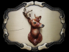 VINTAGE 1978 **BIG BUCK DEER** (AS MOUNTED) BELT BUCKLE