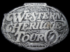 JJ13137 *NOS* 1980s **WESTERN HERITAGE TOUR - WICHITA KANSAS** PEWTER BUCKLE