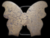 JJ13173 VERY COOL VINTAGE 1970s LARGE CUT-OUT **BUTTERFLY** SOLID BRASS BUCKLE