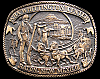 COOL 1980s *NRA WHITTINGTON CENTER* VINTAGE BELT BUCKLE