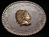 NOS VINTAGE 1978 WESTERN STYLE INDIAN CHIEF BELT BUCKLE