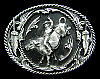 COOL 1995 WESTERN STYLE *BULL RIDER* PEWTER BELT BUCKLE