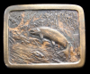 GREAT 1977 VINTAGE *TROUT FISH JUMPING* BELT BUCKLE