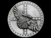 JK09119 VINTAGE 1991 **EAGLE & INDIAN CHIEF**  SOUTHWESTERN DESIGN PEWTER BUCKLE