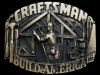 JK25115 VINTAGE 1993 ***CRAFTSMAN - BUILD AMERICA*** BRASSTONE BELT BUCKLE