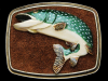 VERY COOL NOS VINTAGE 1979 MUSKELLUNGE FISH BELT BUCKLE
