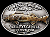 1989 *PORT CLINTON WALLEYE CAPITAL OF THE WORLD* BUCKLE