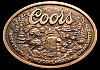 AWESOME 70s **COORS** BEER BOTTLE OPENER PEWTER BUCKLE