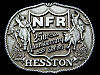 JJ11125 VINTAGE **1983 NATIONAL FINAL RODEO** 25th ANNIVERSARY NFR RODEO BUCKLE