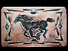 KC17113 VINTAGE 1970s CHAMBERS **GALLOPING HORSE** SOUTHWESTERN DESIGN BUCKLE