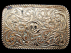 VINTAGE 1970s WESTERN STYLE FLORAL ART CRUMRINE BUCKLE
