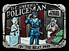 KC17137 VINTAGE 1986 **THE AMERICAN POLICEMAN ON THE BEAT 1940** PEWTER BUCKLE
