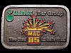 JG09158 VINTAGE 1980s **QUANEX BAR GROUP - MAC & LaSALLE STEEL** PEWTER BUCKLE