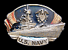 1981 VINTAGE *UNITED STATES NAVY* PEWTER BELT BUCKLE