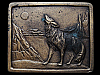 GREAT VINTAGE 1976 *COYOTE HOWLING AT MOON* BELT BUCKLE
