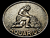 JK19114 VINTAGE 1970s **AQUARIUS** ASTROLOGY SYMBOL SOLID BRASS BELT BUCKLE