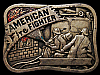 JK19120 VINTAGE 1981 BARON **AMERICAN FIRE FIGHTER** SOLID BRASS BELT BUCKLE