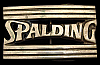 JL02163 VINTAGE 1978 **SPALDING** SPORTS EQUIPMENT LOGO SOLID BRASS BELT BUCKLE