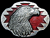 JL09101 VINTAGE 1990 **BALD EAGLE** SOUTHWESTERN DESIGN PEWTER BELT BUCKLE