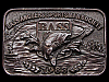KC21139 VINTAGE 1988 **BASS ANGLERS SPORTSMAN SOCIETY** BRASSTONE BELT BUCKLE
