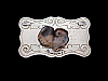 KD01175 VINTAGE 1960s CHAMBERS **SEMI-TRANSPARENT STONES** WESTERN BELT BUCKLE
