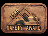 JH15159 VINTAGE 1980 **R.B.I. COMPANY - SAFETY AWARD** COPPERTONE BELT BUCKLE