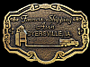 JH17148 VINTAGE 1970s **FARMERS SHIPPING ASS'N** DYERSVILLE, IA BELT BUCKLE