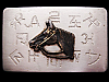 JH19123 VINTAGE 1970s CHAMBERS **RANCH BRANDS & HORSE HEAD** SILVERTONE BUCKLE