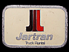JH27148 VINTAGE 1970s **JARTRAN TRUCK RENTAL COMPANY** PEWTER BELT BUCKLE