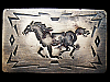 KC25116 VINTAGE 1970s CHAMBERS **GALLOPING HORSE** SOUTHWESTERN BELT BUCKLE