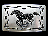 KC25134 VINTAGE 1970s CHAMBERS WESTERN STYLE **GALLOPING HORSE** BELT BUCKLE