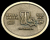 1970s OILFIELD *WORLD WIDE DIESEL - NEW ORLEANS* BUCKLE