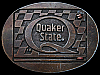 NICE VINTAGE 1970s QUAKER STATE CORPORATION BELT BUCKLE