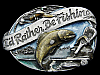 COOL VINTAGE 1985 **I'D RATHER BE FISHING** BELT BUCKLE