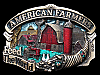 KD17154 VINTAGE 1984 **AMERICAN FARMERS FEED THE WORLD** BARNYARD SCENE BUCKLE