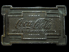 1976 DRINK COCA-COLA DELICIOUS & REFRESHING BELT BUCKLE