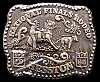 IH01147 *MIP* VINTAGE 1985 NATIONAL FINALS RODEO **NFR** HESSTON YOUTH BUCKLE