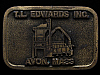 HL03155 VINTAGE 1970s **T.L. EDWARDS INC.** AVON, MASS. BUCKLE