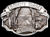 IG27142 VINTAGE 1987 ***BONNY DAM*** COLORADO SOUVENIR PEWTER BUCKLE